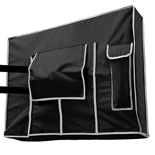 Outdoor TV Cover 32 inch Black - Weatherproof Protection for Flat TVs - Universal for Any Mounts and Stands