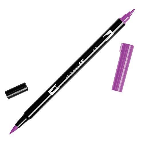Tombow ABT Dual Brush Pen met twee punten 685 - deep magenta