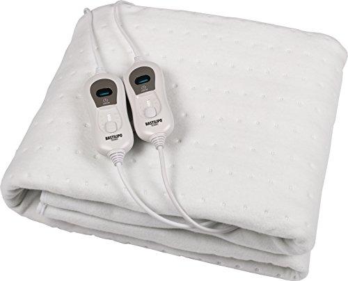 Bastilipo CC-120 - Calienta camas de 2 personas, doble mando individual, 120 W, color gris