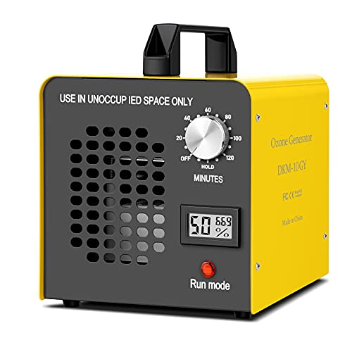 Generador de Ozono Hogar 10,000 mg/h, Profesional Máquina de Ozono Para Coche Desinfectador de Ozono Purificador Ozono de Aire , Eliminaciónn de Olor y Desinfección