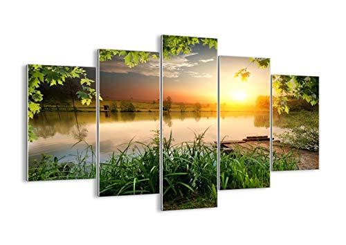 ARTTOR Bild Meer - Wandbilder Schlafzimmer und Bilder Wohnzimmer Modern - Dekoration Wohnung - Wand Bilder auf Glas in vielen Größen - GEA150x100-3914