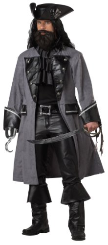 Adult Blackbeard the Pirate Costume - Large