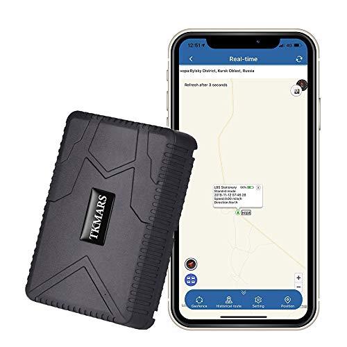 TKMARS Tracker GPS Aimanté Étanche 4 mois Longue Attente Suivi en Temps Réel Antivol Traceur GPS pour Voiture Camion Moto TK915