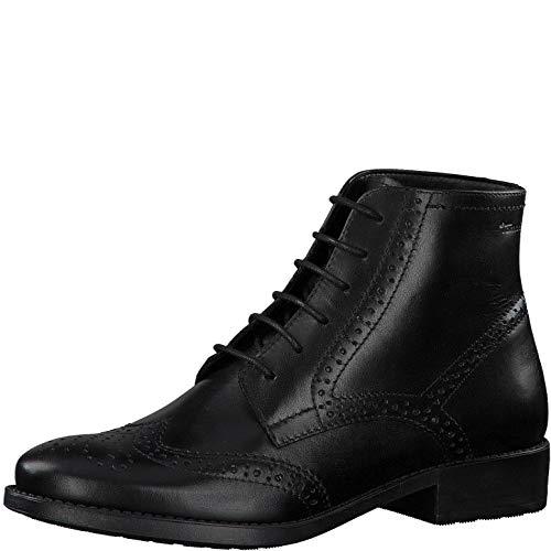 Tamaris Damen Stiefeletten, Frauen Schnürstiefelette, halb-Stiefel schnür-Bootie übergangsschuh weiblich Lady Ladies Women's,Black,38 EU / 5 UK