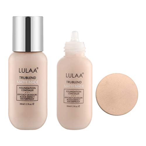 Kapian Concealer Velvet Liquid Foundation Professionelles Voll Deckendes Mattes Make-up Basis Wasserdicht Nude Brighten Foundation Langlebig Hervorheben Make-up Gesichtsfehler Grundlage