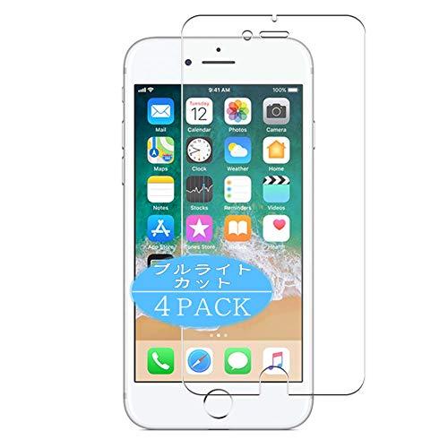 VacFun 4 Piezas Filtro Luz Azul Protector de Pantalla, compatible con Apple iphone 6 / 6s, Screen Protector Película Protectora (Not Cristal Templado) Actualizado