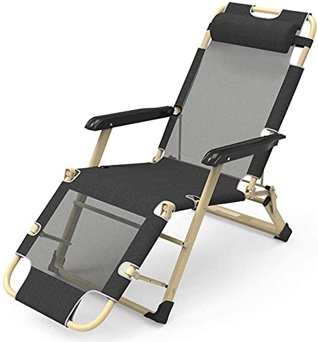KMILE Silla reclinable para exteriores, con gravedad cero, reclinable, para patio, resistente, sillas de gravedad cero, jardín, playa, tumbonas, sillas plegables (color: A)