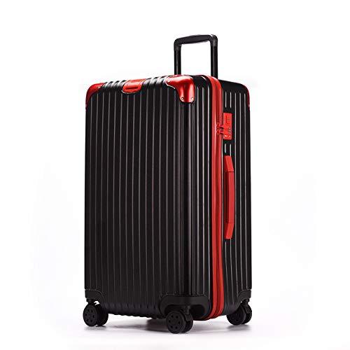 XinFeng Trolley Koffer Travel Box Universal Radschlossbox Männer Und Frauen Net Rot 32-Zoll-Koffer Schwarz mit Rot 26'