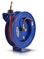 Coxreels P-LP-350-AL Spring Rewind Hose Reel for air/water: 3/8 I.D., 50' hose, 300 PSI by Coxreels