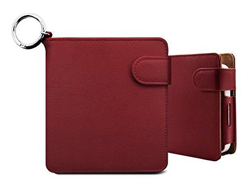 iQOS アイコス ケース 手帳型 財布型 (Marsala) 2.4Plus対応 ヒートスティック クリーナー アイコスケース 収納ケース カバー 電子タバコ たばこ 財布代わり