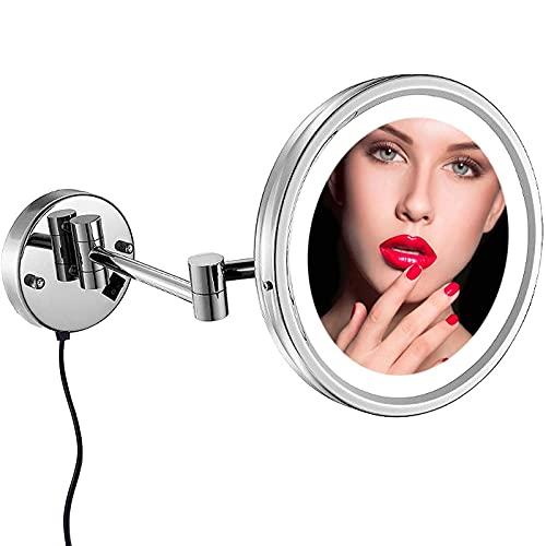 RRFZ Productos para el hogar/baño Espejo de Maquillaje Espejo Redondo de baño, rotación 360-8.5 Pulgadas, Ideal para Applyi (Espejo de Maquillaje)