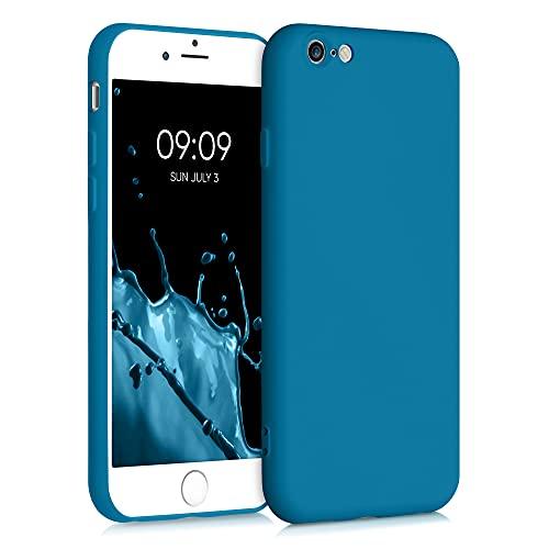 kwmobile Carcasa Compatible con Apple iPhone 6 / 6S - Funda de Silicona TPU para móvil - Cover Trasero en Azul océano