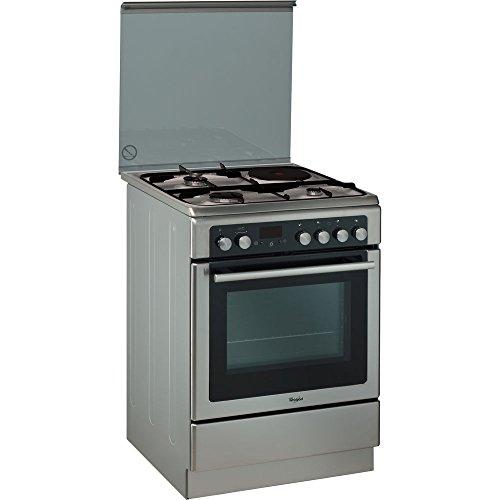 Cuisiniere mixte Whirlpool AXMT6434IX - Inox - Classe énergétique A / Plaque Gaz + électrique / Four Electrique Multifonction - Pyrolyse
