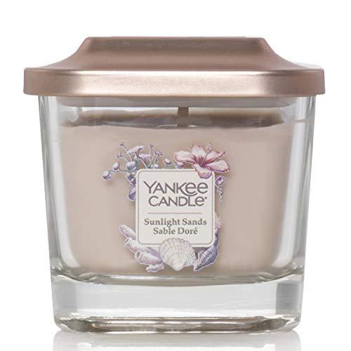 """Yankee Candle Elevation Kollektion """"Sunlight Sands"""" mit Plattformdeckel, kleine quadratische Kerze ,3 Dochten"""