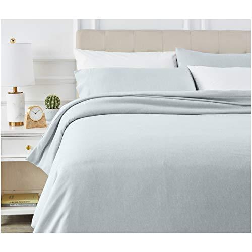 Amazon Basics - Juego de ropa de cama con funda de edredón, de microfibra, 220 x 250 cm, Azul (Cool Aqua)