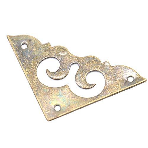 NO LOGO LT-Protector, 50PCS Antique Frame Accessoires Menu Portable décoratif Protecteur Boîte à Bijoux Livre Scrapbook Bronze Support d'angle