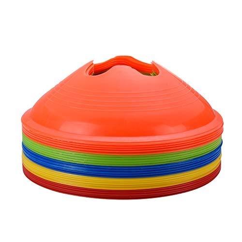 Alyoen 25 Stück Markierungshütchen, Sport Hütchen Set zur Markierung | Markierungsteller für das Training im Fussball, Hockey, Handball oder Trainingshilfe für Koordination