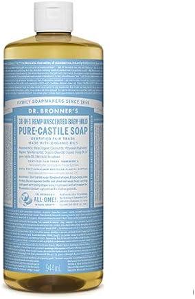 Dr. Bronner's Pure-Castile Liquid Soap - Baby Unscented 32oz.