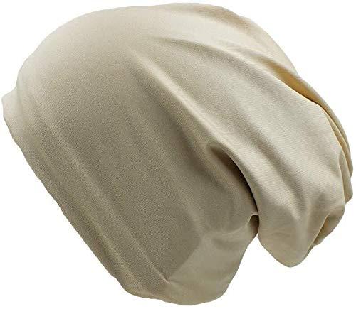 HJBH Sombrero Sombrero de la Manera Guisantes Sombrero con una Bufanda sólidos 2 Adultos de la Gorrita Tejida de poliéster y cómodos (Color : Beige)