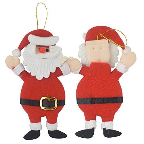 Ogquaton Árbol de Navidad Colgante Adornos DIY Decoración Santa Claus Muñeca para Fiesta Festival Hogar Pared Ventana Decoración Regalo