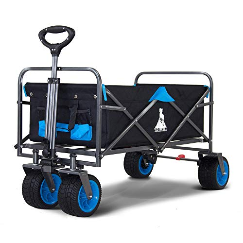 TOPWELL All-Terrain Wheels Garden Cart, Integrated Front Wheels and Pull...