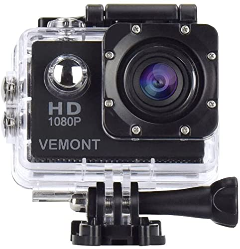 VEMONT Full HD 2.0 Inch Action Camera 1080P 12MP Sports Camera Action Cam...