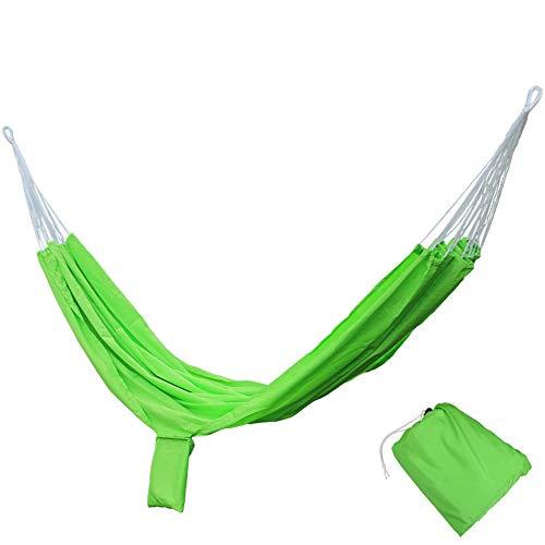 JTH Supreme Nylon Hangmat - Ondersteunt maximaal twee personen - Veranda, Achtertuin, Binnen, Camping - Duurzaam, Ultralight materiaal voor sterkte en comfort met opknoping bandjes 200x140cm Groen