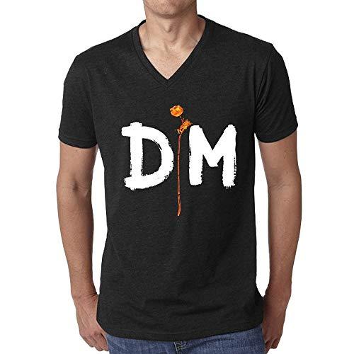 Monking T-Shirt Enjoy The Silence Camiseta Casual de Manga Corta para Hombre
