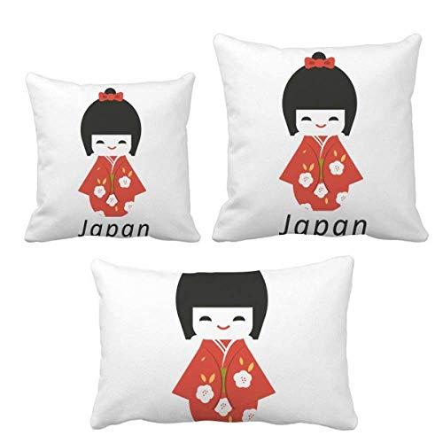 DIYthinker - Juego de almohadas de juguete tradicional japonesa para decoración de sofá
