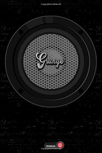 Grunge Notebook: Boom Box Speaker Grunge Music Journal 6 x 9 inch 120 lined pages gift