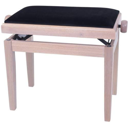 GEWA Piano Bench Deluxe White Ash, Black Seat