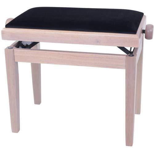 GEWA Piano Bench Deluxe White Ash, Black Seat