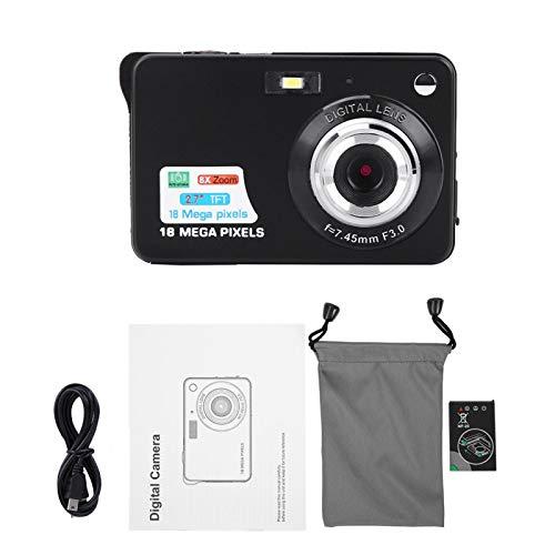 Gatuxe Cámara Digital para niños con Video de 2.7 Pulgadas, cámara para niños, USB 2.0 HD Digital 3 Colores para niños pequeños, niñas, niños, niños(Black)