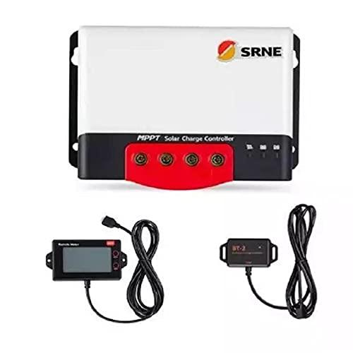 NINONGSHALEI Regulador solar 30A 40A 50A MPPT Regulador solar 12V 24V para batería de litio de entrada máxima de 1320W con BT-2 RM-6 LCD esencial (color: con LCD RM6, corriente: 50A)