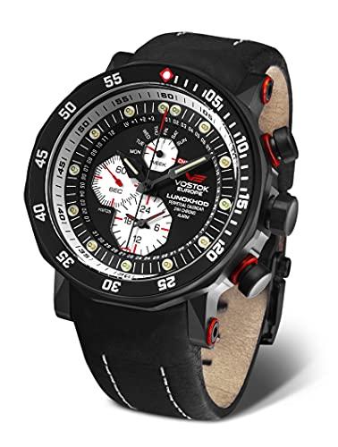 Vostok Europe Lunokhod 2 YM86-620C635 - Reloj multifunción para hombre, color negro