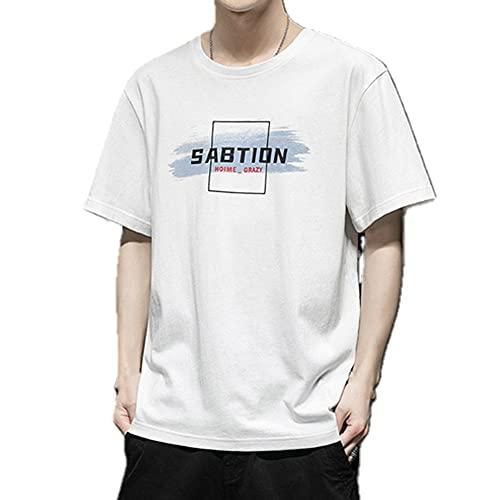 N\P Camiseta de manga corta para hombre 0 verano coreano media manga juvenil camiseta