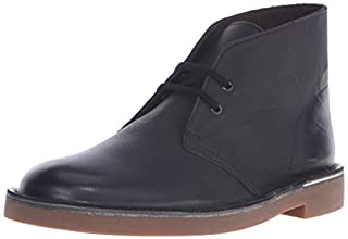 Clarks Men's Bushacre 2 Chukka Boot, Black Leather, 9 M US (B00UWJ1S32) | Amazon price tracker / tracking, Amazon price history charts, Amazon price watches, Amazon price drop alerts