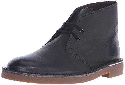 Clarks Men's Bushacre 2 Chukka Boot, Black Leather, 12 M US