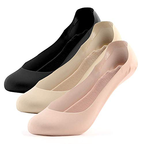 UNWIREDD Womens Ultra Low Cut True No Show Liner Socks Breathable Combed Cotton Heel Grip