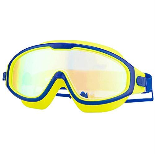 SADSA Gafas de natación Gafas de natación para niños Protección antivaho UV Gafas de natación Transparentes de visión Amplia con tapón auditivo para niños de 4 a 15 años