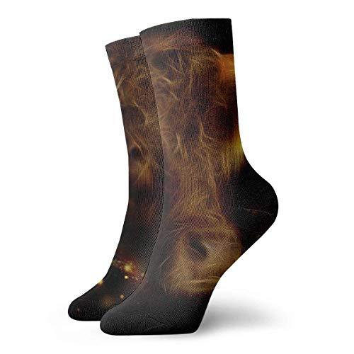 Hangdachang Socken für Herren lustige verrückte Crew Socken kreativer Stier Kunstdruck Sportsocken 30 cm lang personalisierbare Geschenksocken