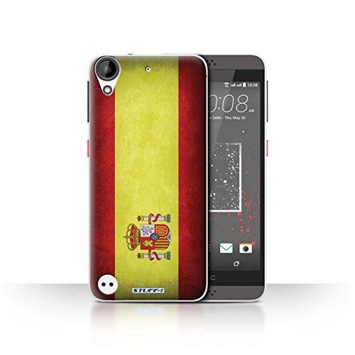Stuff4 Hülle/Hülle für HTC Desire 630 / Spanien/Spanische Muster/Flagge Kollektion