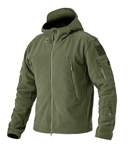 Mens Winter Active Fleece Anti Pilling Fishing Hunting Camping Travel Jacket ArmyGreen