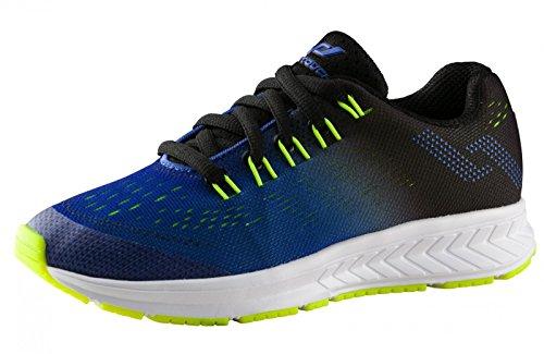 Pro Touch Run-Schuh OZ 2.0 Junior Laufschuhe, Schwarz Blau Limegrün, 37 EU