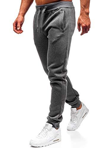 BOLF Pantaloni Sportivi – Cotone – di Tuta – Jogger - Sportivi – da Uomo J.Style AK12-1 Grafite M [6F6]