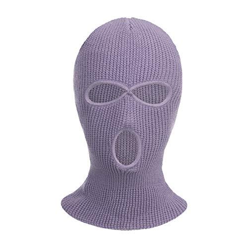 Winter Gesichtsschutz DREI-Loch-Wollstrick-atmungsaktiver waschbarer Mundschutzhelm-Schutzhelm für Herren und Damen, Lustige Gesichtsdekorations Requisiten