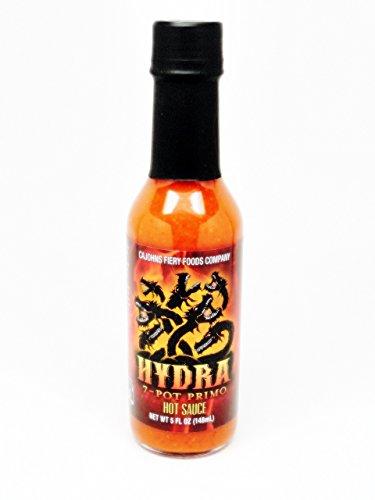Cajohn's Hydra 7- Pot Primo Hot Sauce - (3 Pack of 5 Oz. Bottles)