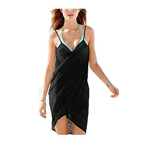 TTD Damen V-Ausschnitt langes Kleid Sommer Strand Wickelkleid Bademantel Handtuch Travel Spa Swim