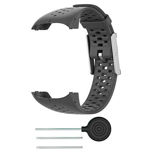 Tixiyu Correa de repuesto para reloj inteligente compatible con Polar M400/M430 con herramienta (ancho: 21,2 mm + longitud: 245 mm)