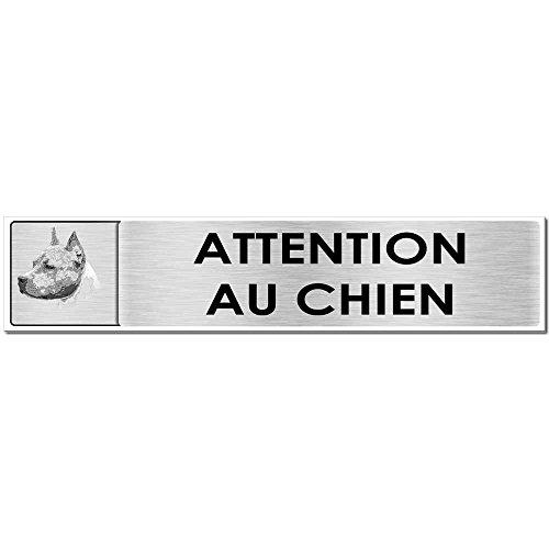 Autocollant.fr Plaque Attention au Chien Amstaff